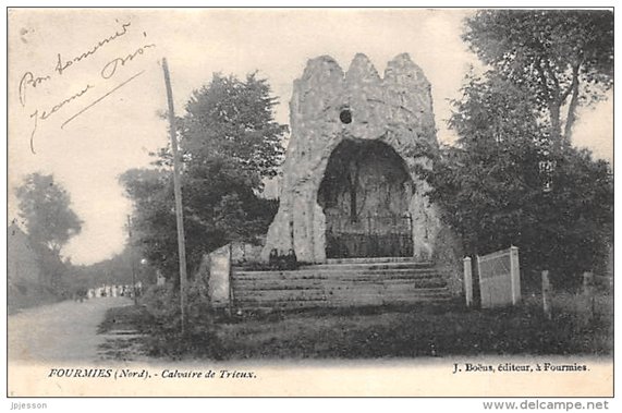 Calvaire de Trieux vers 1906