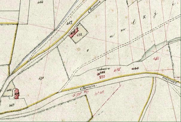 Plan cadastral de Baives de 1882