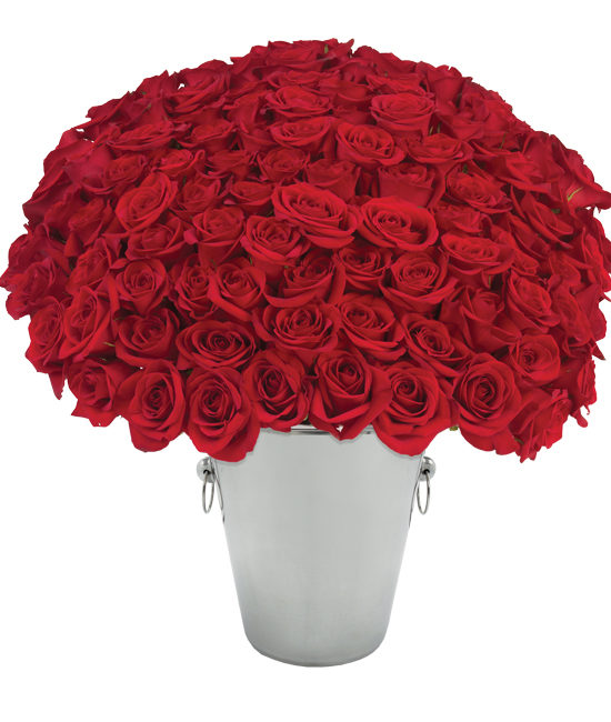 100 Roses Bouquet - Red Long-Stemmed Roses