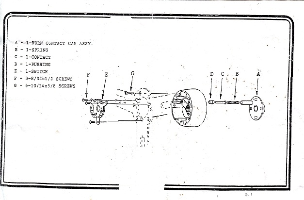 1967 cougar steeering wheel diagram