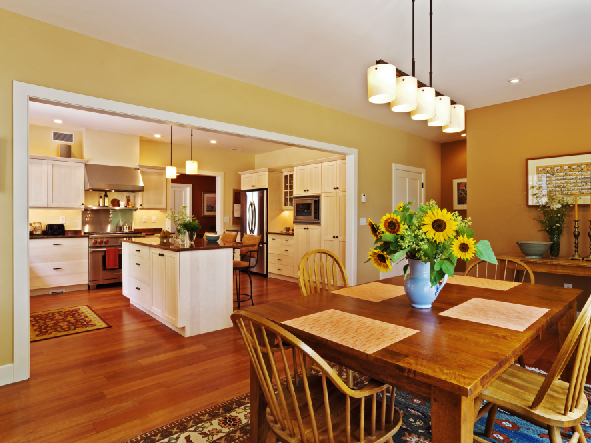 Kitchens Open To Dining Room Design A Room Interiors