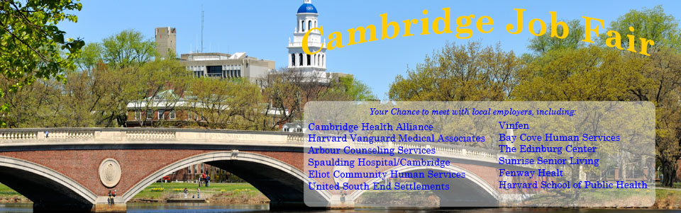 Health  Human Services Job Fair Apr 2 - City of Cambridge, MA