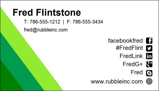 Business Card Designer Plus - Sample Business Cards - name card example