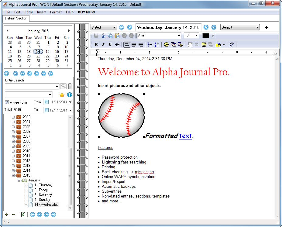 Download Alpha Journal Pro Keep a private journal, diary or log and