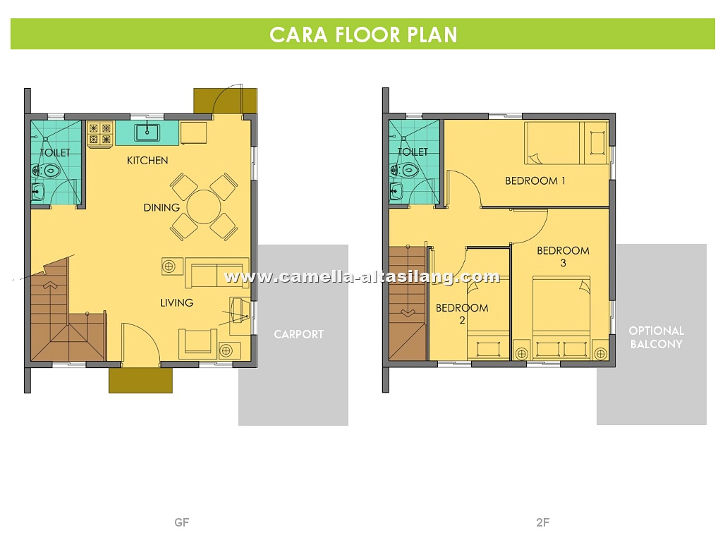 Cara floor plan house and lot in silang