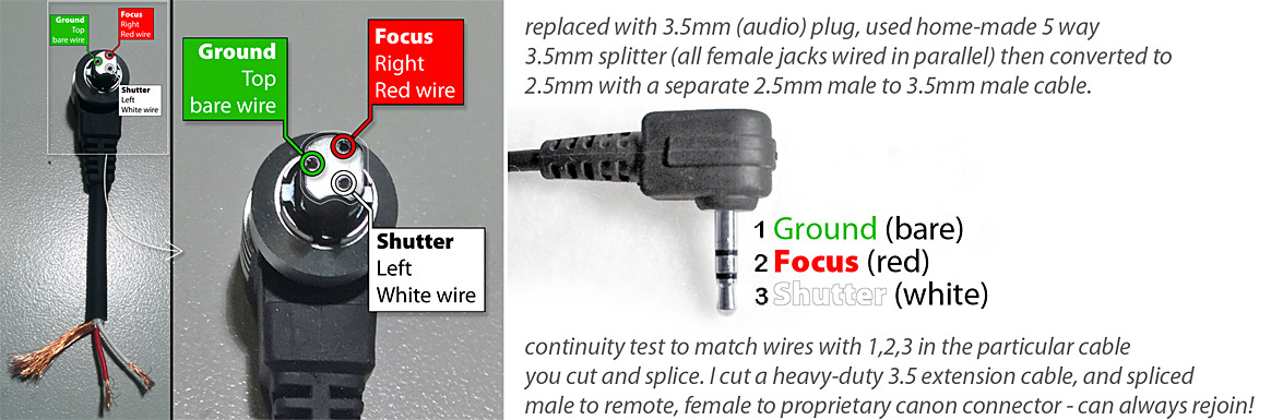 Canon RS60-E3 Remote Pin-Out