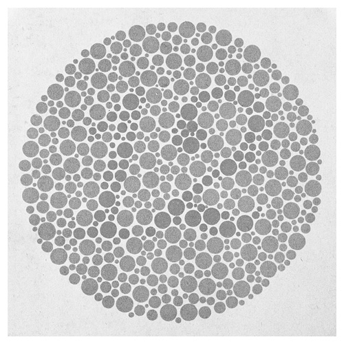 Silver Gelatin Prints Of Pages From The Ishihara Colorblind Test Book