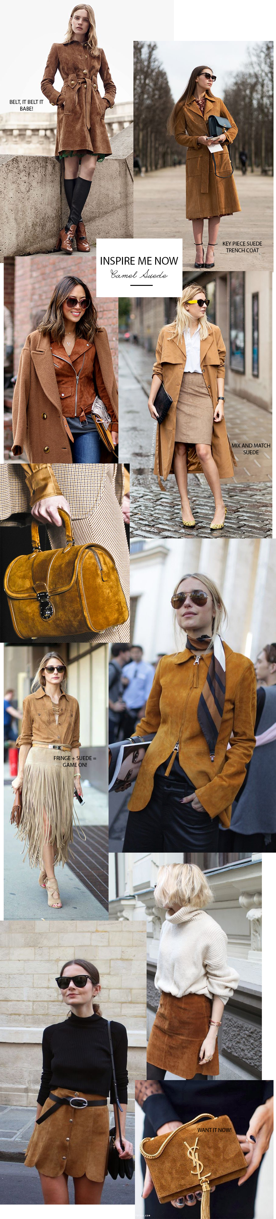 suede, how to wear suede, camel suede, trend camel suede
