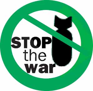 Stop the war – bomb