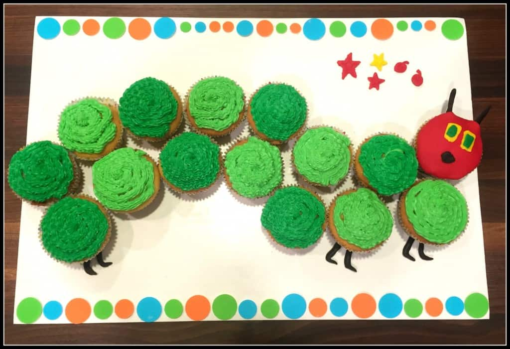 Very Hungry Caterpillar Birthday Cupcakes · Erin Brighton