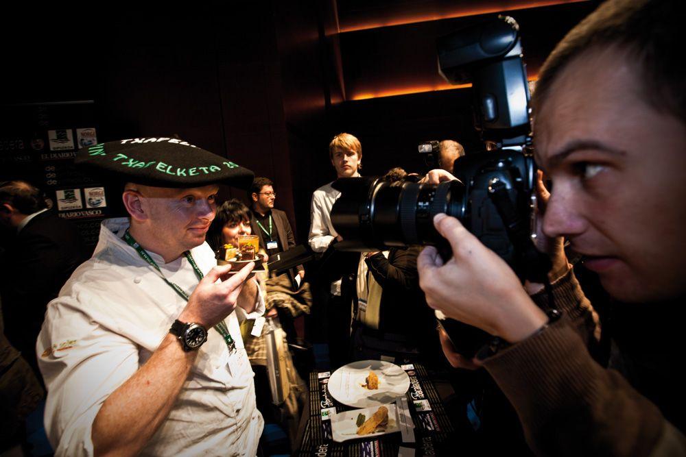 Darran Williamson, del Bitoque de Albia de Bilbao, campeón de la edición 2009 en el Congreso Gastronomika
