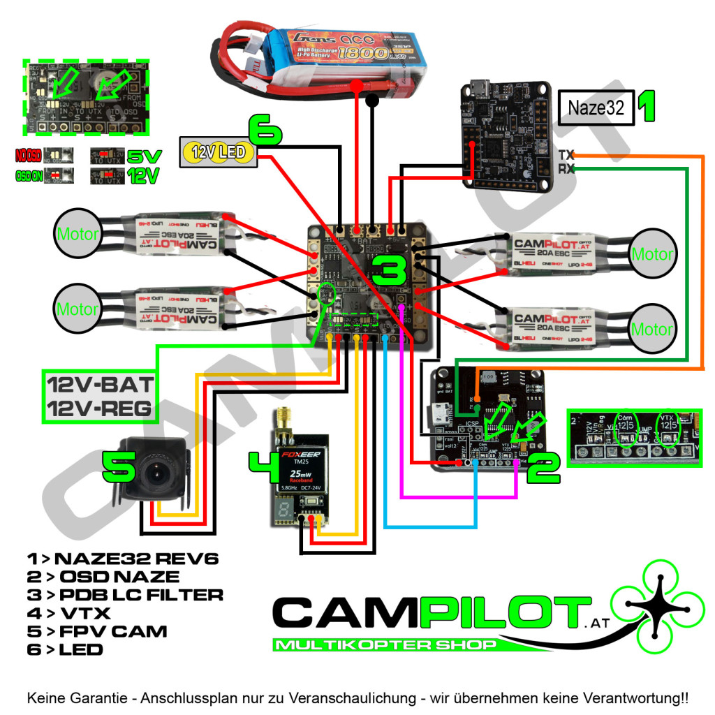 vector flight controller wiring diagram