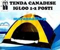 TENDA CANADESE IGLOO CAMPEGGIO MARE VIAGGIO 1 - 2 POSTI