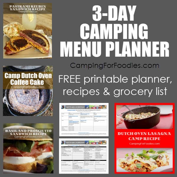 3-Day Camping Menu Planner And Grocery List - Camping For Foodies
