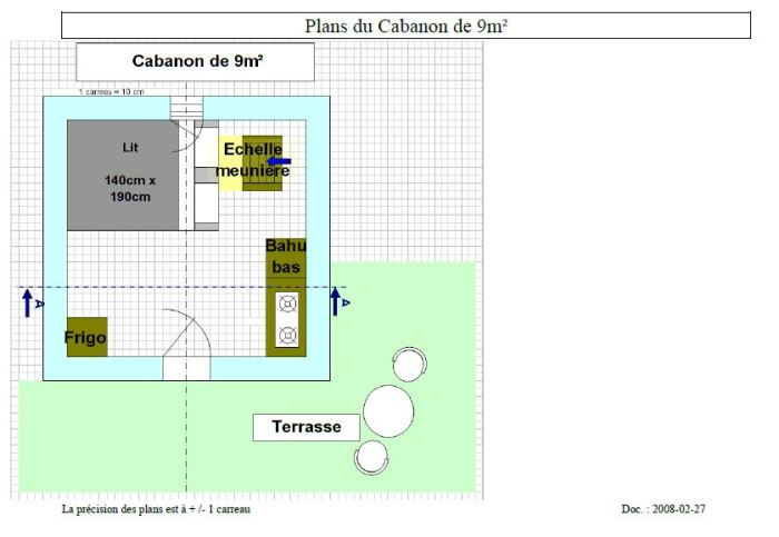 cabanon / hutte 9m²