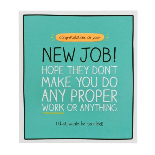 Happy Jackson New Job \u0027Do Proper Work\u0027 Card Campus Gifts