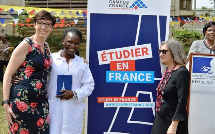 CAES student gets a French scholarship award at Campus France Day Launch