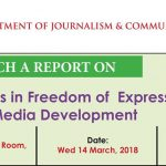 Live Coverage: Launch of the 'world trends in freedom of expression and media development report' 2017/2018