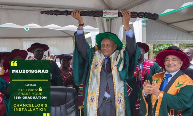 Prof. Mondo Kagonyera Installed Kampala University Chancellor