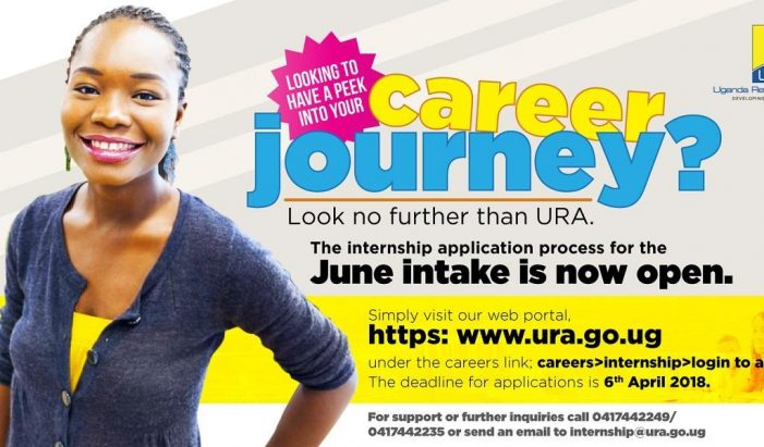 Apply for Uganda Revenue Authority Internship Programme 2018