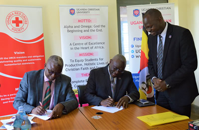 Uganda Christian University Signs MoU with Uganda Red Cross Society to Save Lives