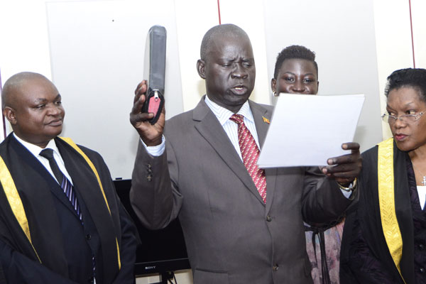 Kassiano Wadri swears in as new Arua municipality MP