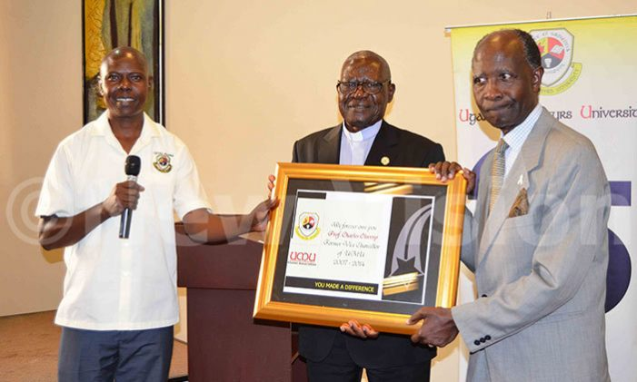 Uganda Martyrs University Recognizes Pioneer Staff