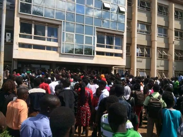 Tear Gas rock Kyambogo University as Students Resume Strike over Tuition Increment
