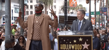 American Rapper Snoop Dogg, Recognized with the 2,651st  Star on Hollywood Walk of Fame