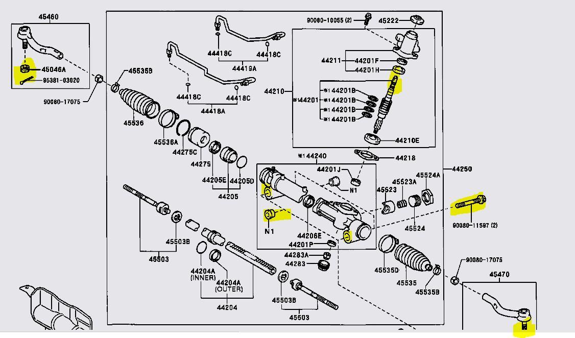 Replacing Steering Rack Necessary For Power Steering Fluid