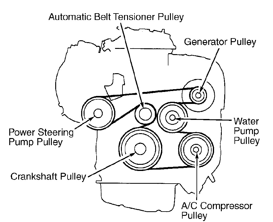 2007 toyota camry serpentine belt diagram