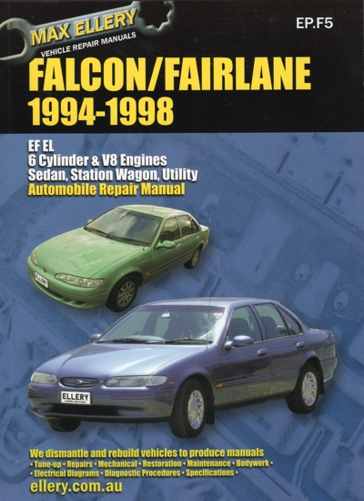 Ford Falcon Fairlane EF EL repair manual 1994-1998 NEW - workshop