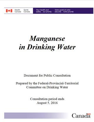 Manganese in Drinking Water - Canadaca