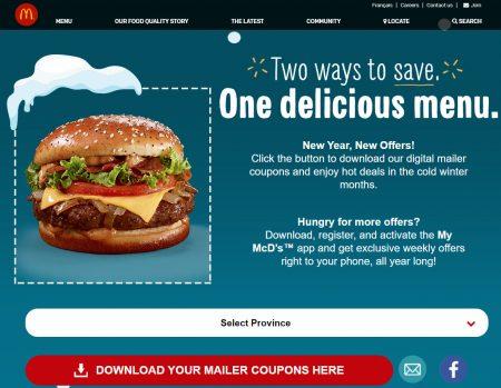 McDonalds Menu Coupons u2013 Printable (4)mcdonaldu0027s canada