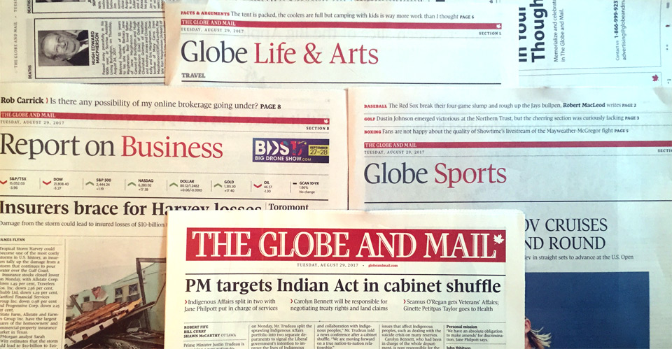 Globe And Mail Cutting Weekday Arts, Life, Sports Sections
