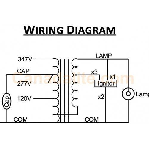 wiring ballast and capacitor