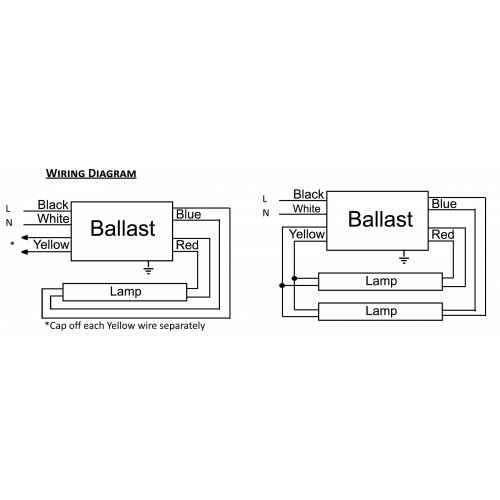 fluorescent light ballast wiring diagram