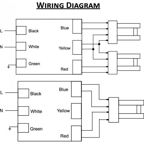 cfl ballast wiring diagram