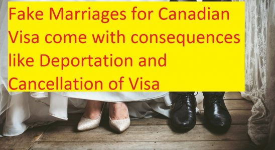 Fake Marriages for Canadian Visa comes with consequences \u2013 Canada