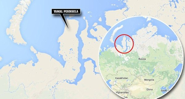 Yamal, a large peninsula jutting into Arctic waters, is Russia's main production area for gas supplied to Europe.