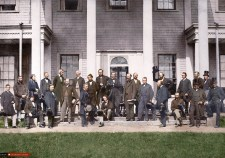 Charlottetown Conference - Colourized Photograph