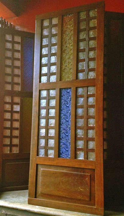 The aesthetically eclectic home for Capiz window