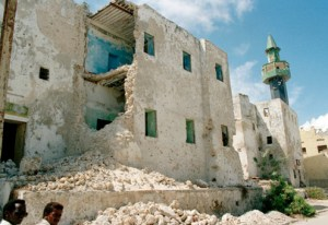 Part of the destruction from the Somali civil war with Somaliland.