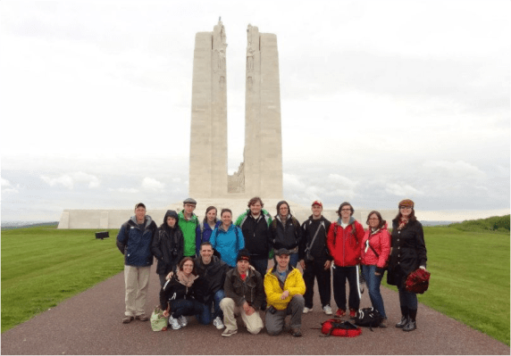 CBF 2013 Study Tour at Vimy Ridge