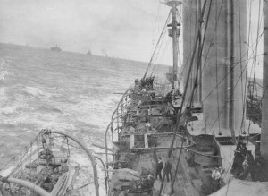 Convoy carrying Canadian Expeditionary Force to Britain.