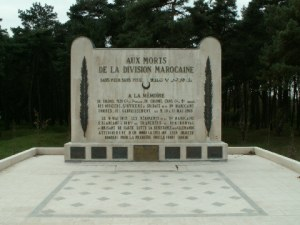 Monument dedicated to the Moroccan Division, Vimy, France.