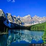 Moraine Lake sports one of the most well known views in the Canadian Rockies.
