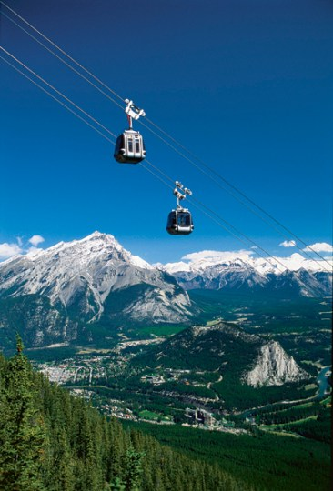 Get a quick and beautiful view of your new surroundings from the Banff Gondola.