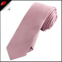 Mens Blush Dusky Pink Plain Skinny Tie- Canadian Ties