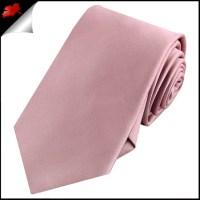 Mens Blush Dusky Pink Rose Plain Necktie- Canadian Ties
